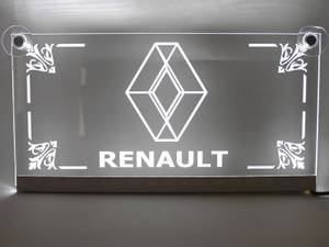 Bilde av Renault logo i plexiglas med